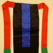 Image of Cher Moua Thao, Child's back apron, 1985, Hmong
