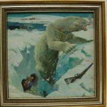 Image of HM Stoops, Polar Bear, 1945, Oil, 22x22.5in