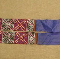 Image of Nyla Thao, Sash, Sam Neua, Laos, Hmong, 1939, Cotton/Silk