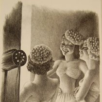 Image of Kyra Markham, In the Wings, 1936, Lithograph, 10x14in