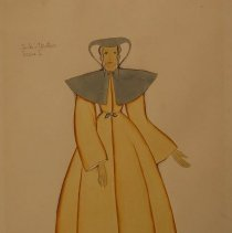 Image of Arthur J Wilde,Jack's Mother,Costume for Jack&Bean1936,Watercolor,11x14in