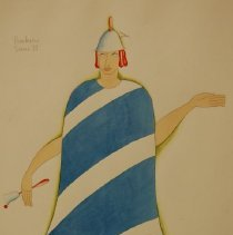 Image of Arthur J Wilde, Barker, Costume for Jack&Bean, 1936, Watercolor, 11x14in