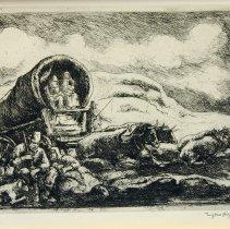 Image of Eugene Higgins, Pioneers Resting, Ink, 8x6in