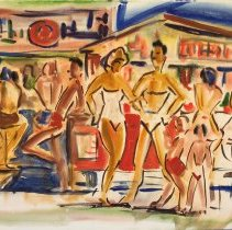 Image of Aden Arnold, Beach Sketch, ca1940s, Watercolor, 14x19in
