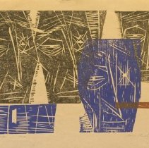 Image of Aden Arnold, The Mark 5/12, 1960, Woodcut, 9x14in