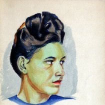 Image of James Dew, Untitled, 1946, Watercolor On Paper, 18x12in