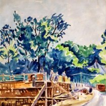 Image of James Dew, Untitled, 1946, Watercolor On Paper, 22x15in