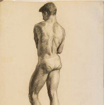 Image of Aden Arnold, Untitled, 1940s, Charcoal, 25x19in