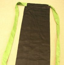 Image of Bao Yang, Apron, ca1945-75, Green Hmong, Satin/Nylon