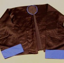 Image of May Yang, Funeral jacket (tsho laug), 1988, Hmong, Satin