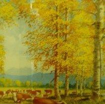 Image of Walter Hook, Cows in Field, 1982, Watercolor, 21x29in