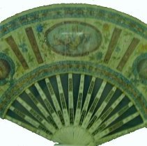 Image of Artist unknown, Handpainted fan, ca1750, Ivory blades/paper,10x19in