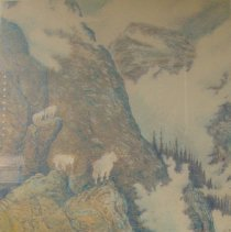 Image of Mary Beth Percival, Mountain Sanctuary, 1999, Lithograph, 26x13in