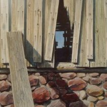 Image of Walter Hook, Side of the Barn, 1974, Watercolor, 10x11in