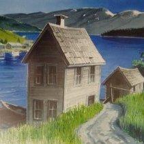 Image of Walter Hook, Lake Cove, 1971, Watercolor, 13x21in