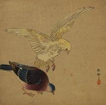 Image of Ohara, Koson known as Shoson,Pair of Pidgeons,1930,Woodblock