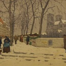 Image of Tavik František Šimon,Quai de la Tournelle in Winter,1911,Etching,12x16in