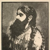 Image of Peter Blake, Bearded Lady from the Side-Show folio, 1974-1978, 6x5in