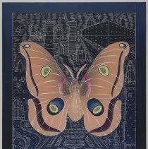 Image of John Buck, The Night Sky (Polyphemus), 1992, Woodcut/Linoleum, 35x28in