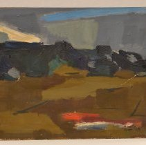 Image of Gennie DeWeese, Landscape I, 1954, Oil on panel, 16x20in