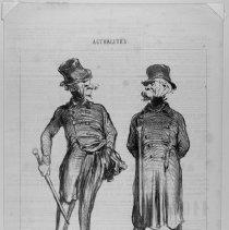 Image of Honoré Daumier, RATAPOIL et CASMAJOU, 1850, Lithograph, 8x10in