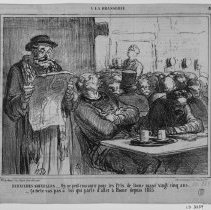 Image of Honoré Daumier, Latest News, 1863, Lithograph, 10x8in