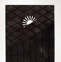 Image of Patrick Hughes, Sunscrapers, 1980, Etching, 29x36in