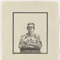 Image of Peter Blake, Tattooed Man from the Side-Show folio, 1974-1978