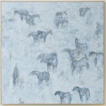 Image of Ted Waddell, Ghost Horses, 1995, Oil and encaustic on canvas
