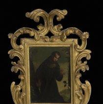 Image of Paolo del Signoraccio,Portrait of St Bernardino,1515,Oil,11x8in