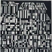 Image of Helen Gerardia, Rooftops, 1958, Dry point/etching