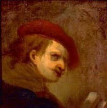 Image of Artist unknown (previously att to Gerritt Dou), Untitled, Oil on panel, 9x8