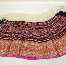 Image of Artist unknown, Hmong skirt, ca1980's, Cotton/silk