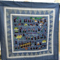 Image of Artist unknown, Story cloth, 1980's, Hmong, Cotton