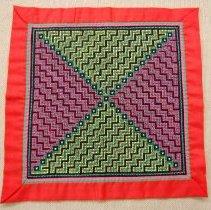 Image of Nhia Lee, Decorative cloth, ca 1980's, Cotton