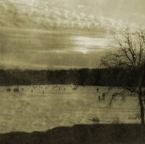 Image of Deer Grove Cano Views - Lake in Winter - pc-6-2-2-e-m