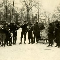 Image of Deer Grove Camp - Winter Activities - Palatine Boy Scout Band Visit - pc-6-2-3-y-m