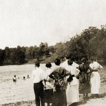 Image of Deer Grove Camp - Spring, Summer, Fall Activities - Swimming (1919) - pc-6-2-4-l-m