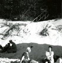 Image of Dunes, Indiana - Beach Activities - Swimming & Sunbathing - pc-6-6-7-d2-m