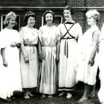 Image of CHS - Students and teachers dressed in grecian costumes