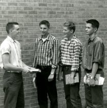 Image of CHS - Boys standing outside