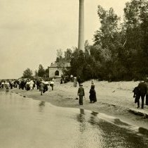 Image of Hikes and Walks - Early Walkers on Beach - 1913 - pc-6-7-2-s-m