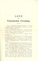 Image of Forsiden af lovskriftet over Polyteknisk Forenings vedtægter