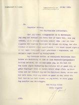 Image of Det første brev . The first letter