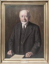 Image of Portræt af  P.O. Pedersen, professor i svagstrømsteknik og direktør for Polyteknisk Læreanstalt