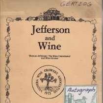Image of Jefferson and Wine.