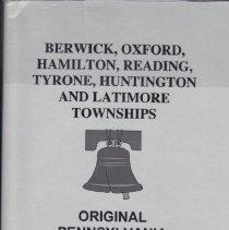 Image of Original Pennsylvania Land Records Series; Adams County, Pennsylvania, Volume 2 - Berwick, Oxford, Hamilton, Reading, Tyrone, Huntington and Latimore Townships