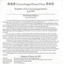 Image of 2005.3.2 - Conococheague Pioneer Times