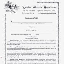 Image of Antirtam Historical Assoc. Membership form