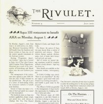Image of 2011.211.3 - The Rivlet, Number 4, July 2011
